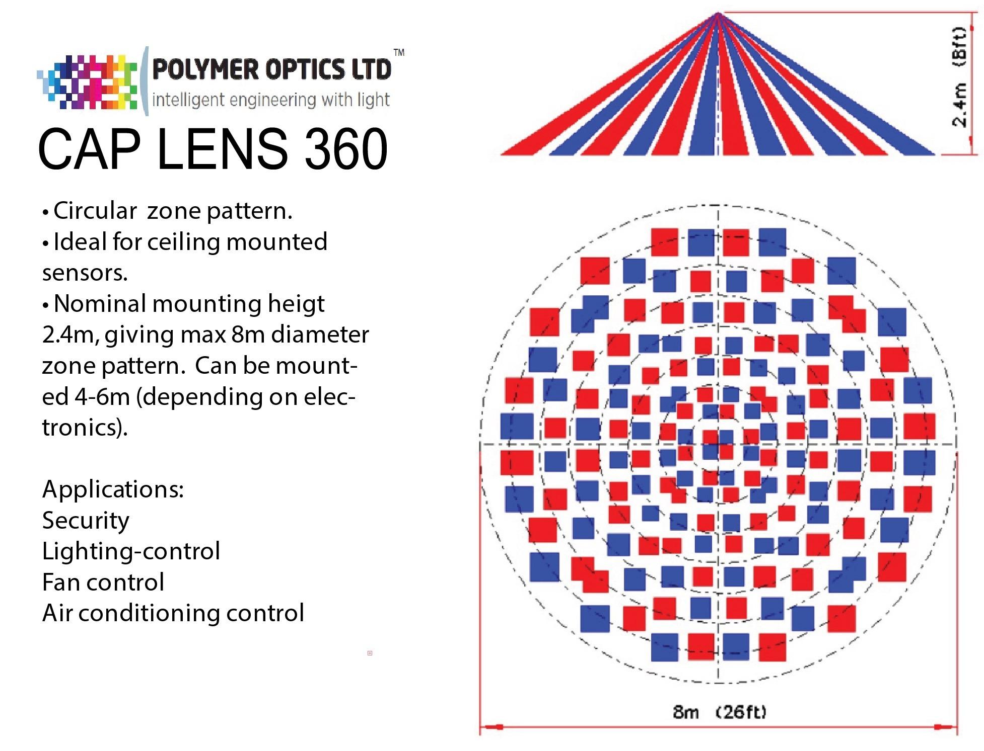 Zone Map Cap Lens 360 - PIR Cap Lens